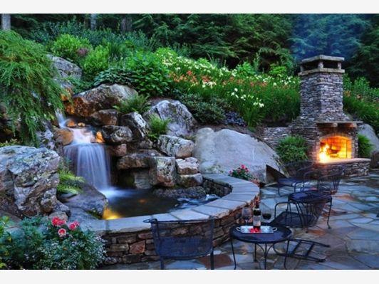 Backyard Waterfall - Home and Garden Design Idea\u0027s casas - Cascadas En Jardines