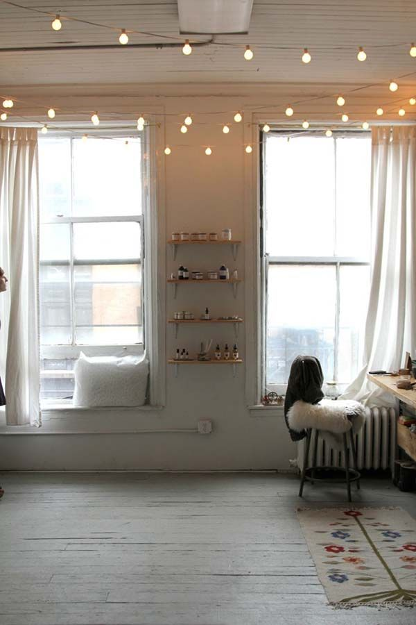 inspiring ways to decorate your home with string lights also rh pinterest