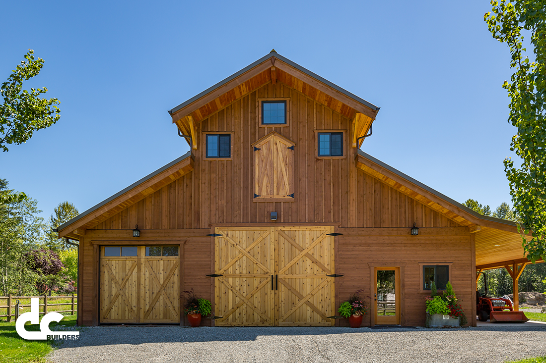 This monitor barn kit outside seattle washington was for Barn house plans kits