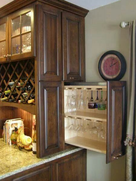 Wine glass storage dream home pinterest cocinas for Muebles de cocina vibbo