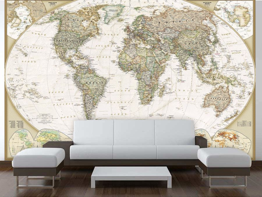 Old world map wall mural wall murals adhesive and walls old world map wall mural gumiabroncs Image collections