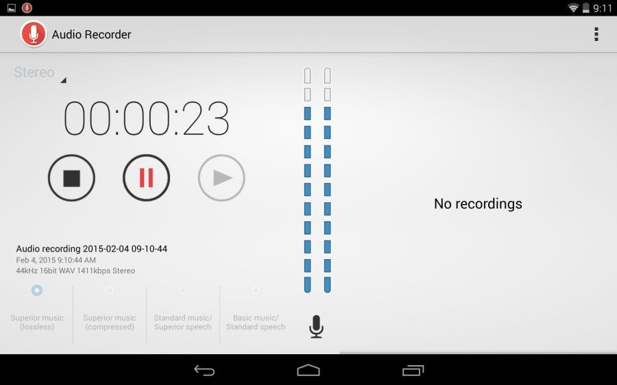 Requirements: 2 3+ Overview: Audio Recorder Application