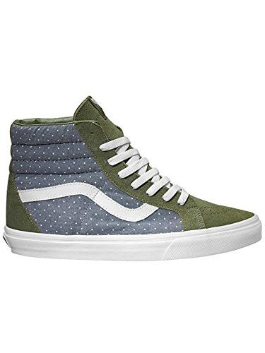806b7c37ed Vans SK8 Hi Reissue Chambray Dots Mens Classic Skate Shoes Size 95     See  this great product.(This is an Amazon affiliate link and I receive a  commission ...