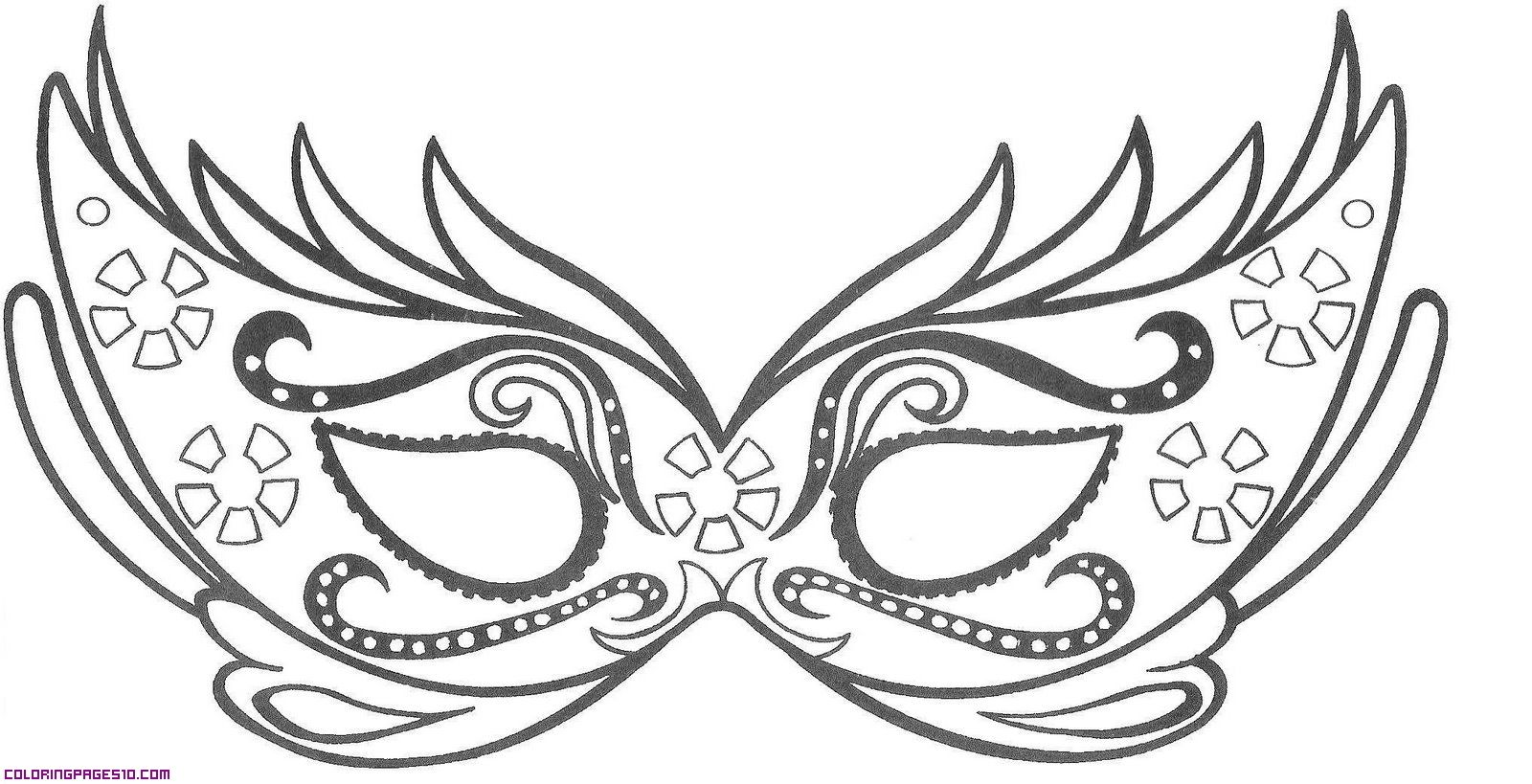 coloring pages for girls masks