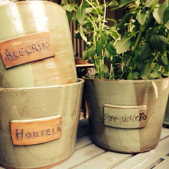 Vasos para ervas em cerâmica de alta temperatura