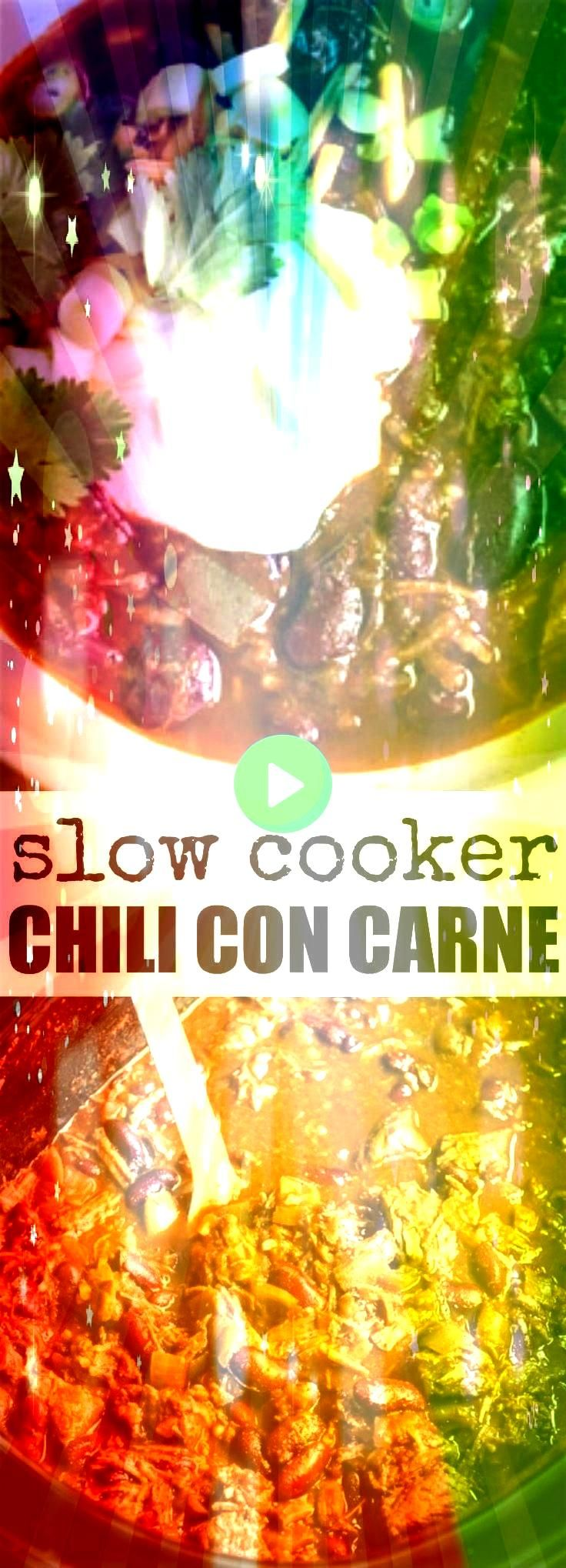 easy recipe for Slow Cooker Chili Con Carne Find all my tips and tricks for adding the most flavor to your chili every step of the wayA delicious easy recipe for Slow Coo...