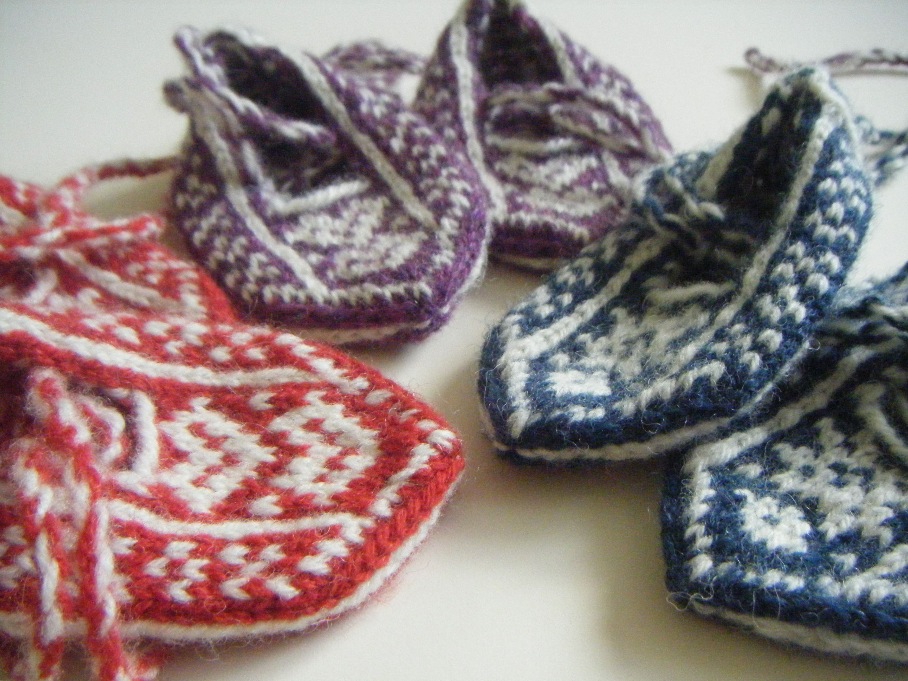 My kids slippers. Jamiesons of Shetland DK yarn