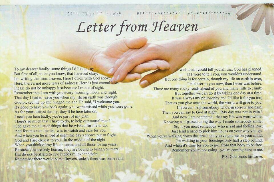 a letter to my husband in heaven letter from heaven 28807 | f59775ff4c27671946cb638f7ef63859