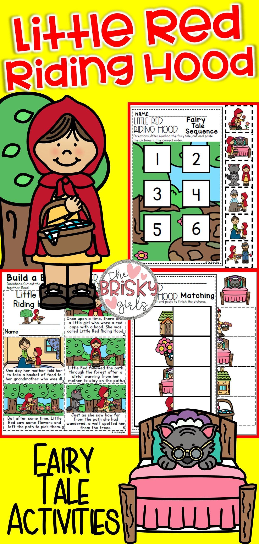 Fairy Tales Kindergarten Little Red Riding Hood Activities
