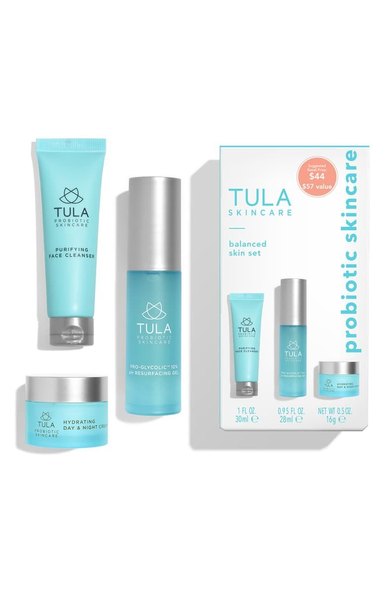 Tula Skincare Balanced Skin Set Nordstrom Exclusive Usd 57 Value Nordstrom Probiotic Skin Care Skin Care Purifying Face Cleanser