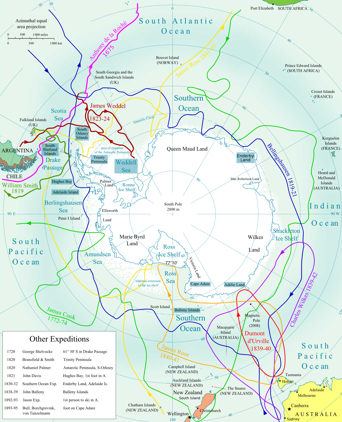 Expeditions in Antarctica before the Heroic Age of Antarctic