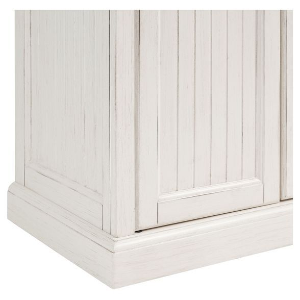 Best Seaside Kitchen Pantry Distressed White Crosley With 400 x 300