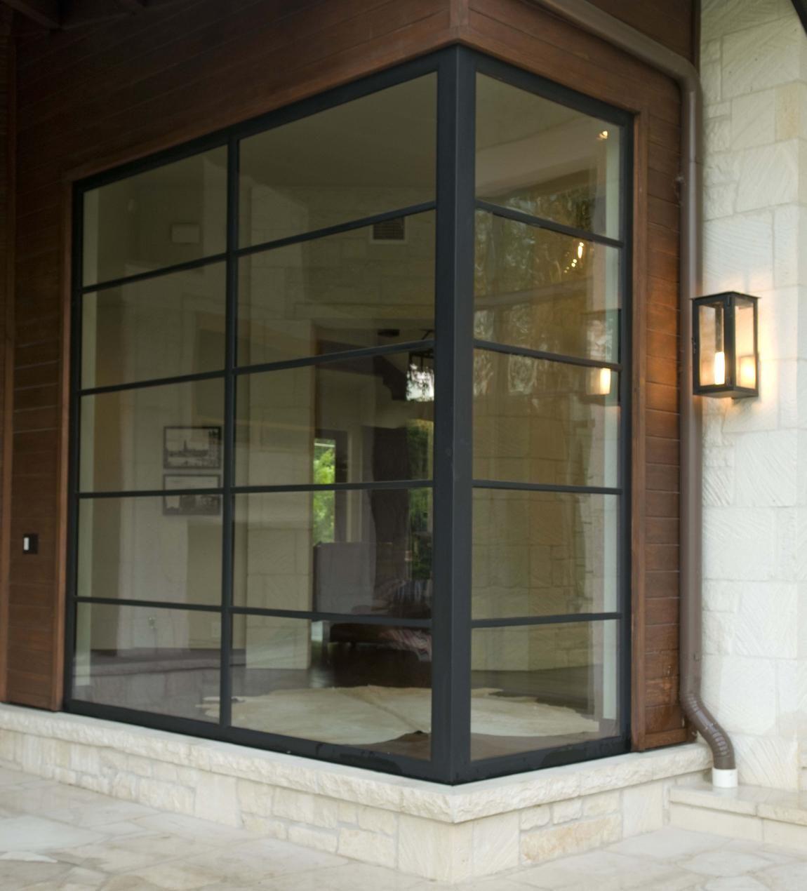 Corner Window, Steel Frame Doors