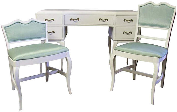 One Kings Lane Vintage French Provincial Desk Chairs Set Of 3 Vaillant Cie Desk And Chair Set Desk Chair Covers Desk