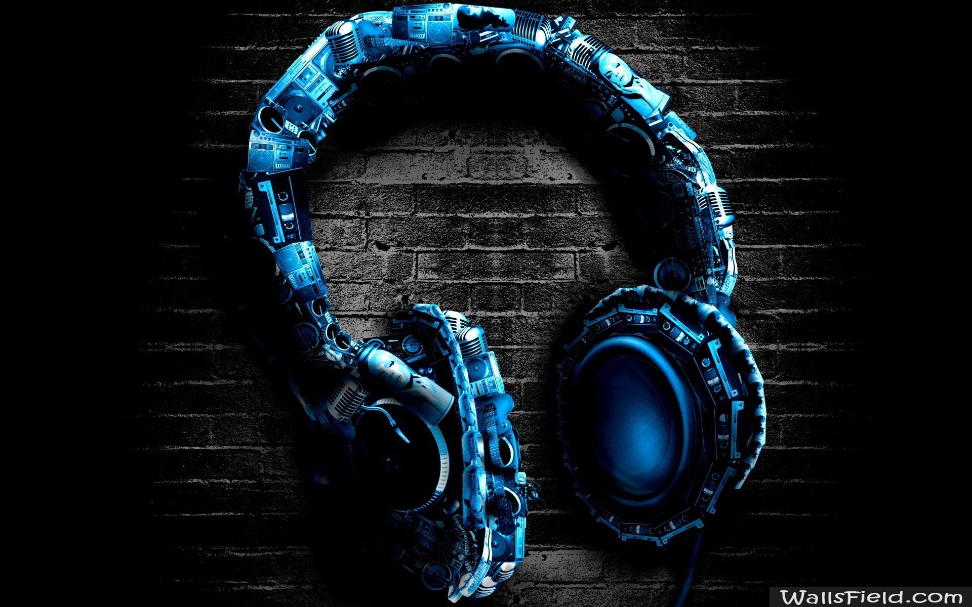 Abstract Headphones Wallsfield Com Free Hd Wallpapers Hd Wallpapers For Pc Music Wallpaper Dance Wallpaper