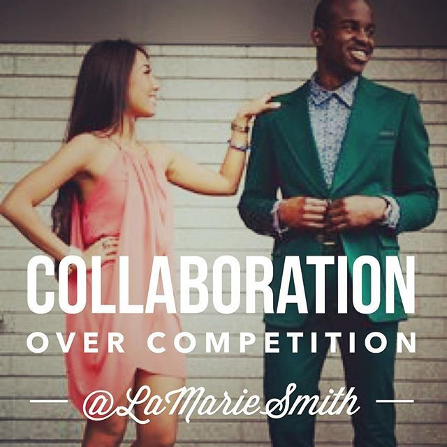 Moguls know that if they work together they achieve more.  There is no room for tearing down one another when we are building empires!  #LaMarieSmith #MogulMotivation #MondaysareforMoguls #Collaboration