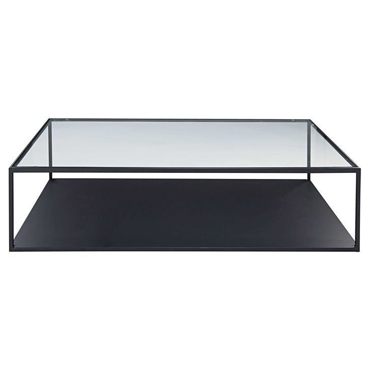 Image Result For Rectangle Black Wire And Glass Coffee Table
