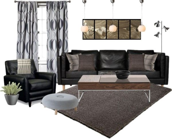 """""""Masculine Living Room"""" by mbtherrell on Polyvore"""