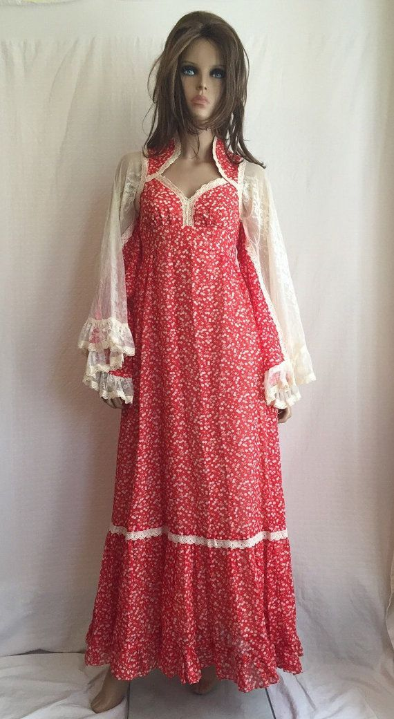 RESERVED for AMY Vintage 70s Gunne Sax Hippie Dress - Retro 1970s ...