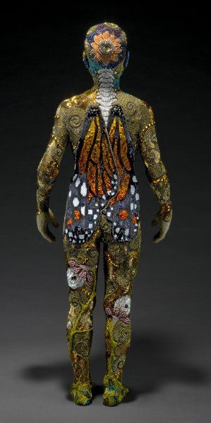 Betsy Youngquist and R. Scott Long, Metamorphosis, 2011. beaded.