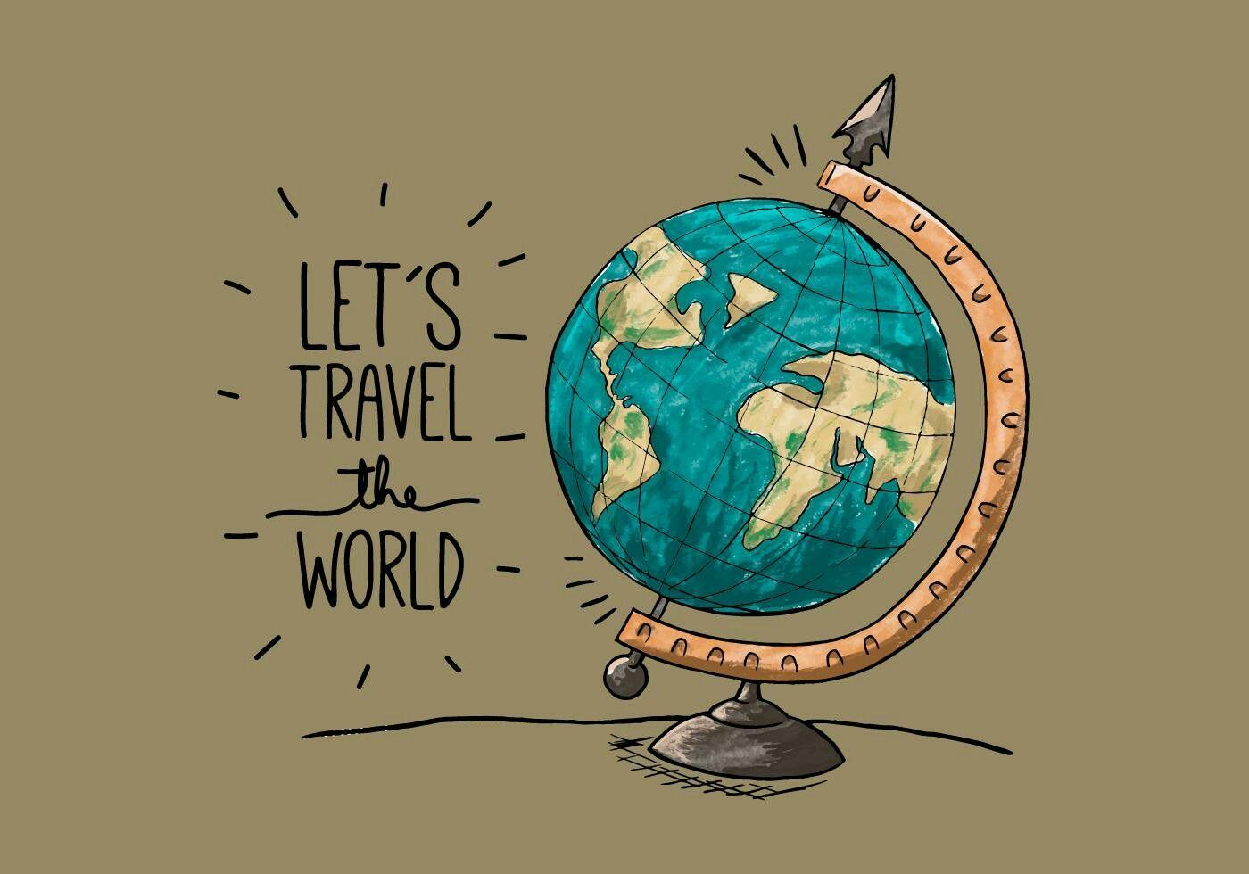 Globo Terraqueo Globo Terraqueo Dibujo Dibujos De Globos Citas De Viajes