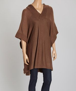 Another great find on #zulily! Gabriella by La Fiorentina Chocolate Hooded Poncho by Gabriella by La Fiorentina #zulilyfinds