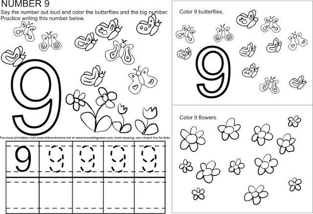 Picasa Infantil 196 Fichas Para Trabajar El Numero 9 Fichas Grafomotricidad Fichas De Matematicas
