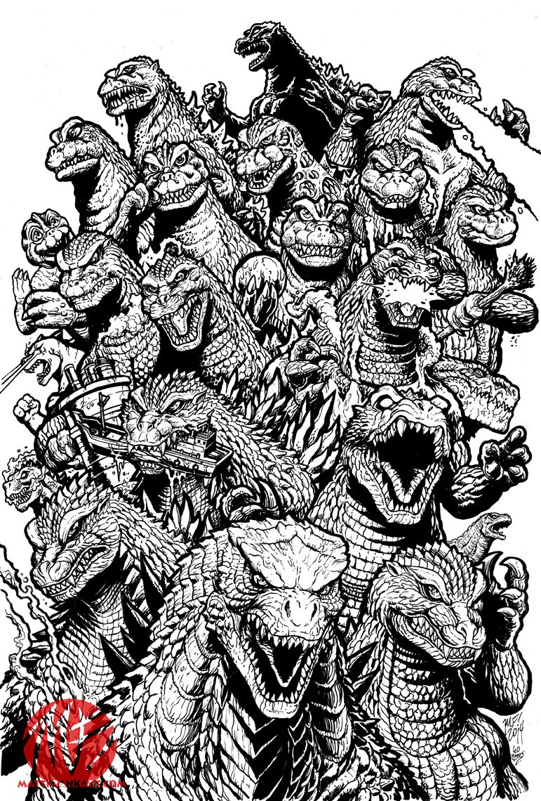 godzilla godzilla and monster butterfly coloring pages