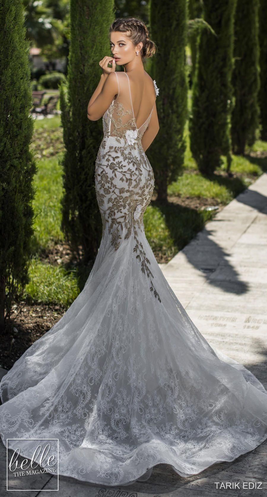 Tarik Ediz Wedding Dresses 2019 - The White Bridal Collection. Gold lace  mermaid sexy wedding backless  weddingdress  weddingdresses  bridalgown   bridal ... 34e35635dc05