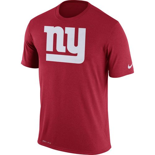 78337597 New York Giants Nike Legend Logo Essential 3 Performance T-Shirt - Red