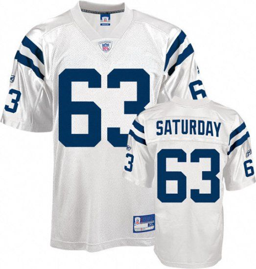 Jeff Saturday Jersey, #63 Indianapolis Colts NFL NFL Jersey in ...