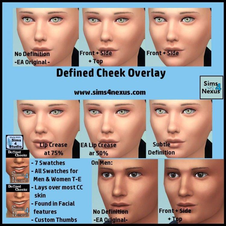 Defined Cheek Overlay  Original Content  | Sims 4 Nexus