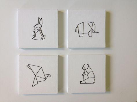 Voici comment r aliser un tableau brod origami bricolage pinterest broderie origami et - Realiser un tableau ...