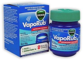 vicks vaporub against drive mould work