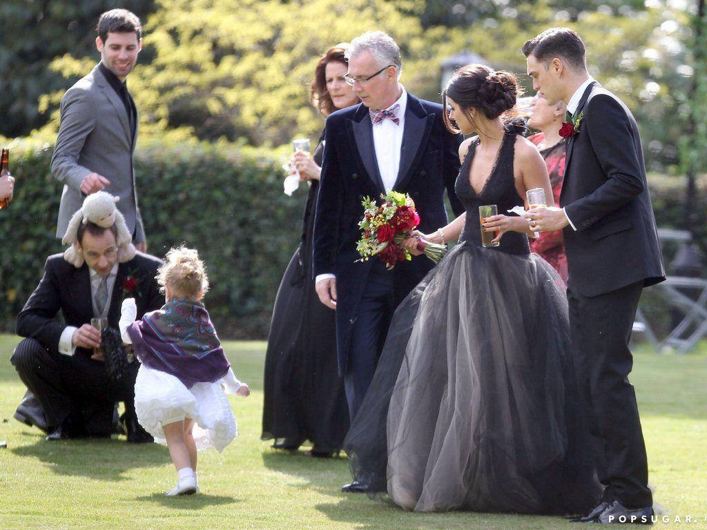 Shenae Grimes Marries In A Black Dress Shenae Grimes Wedding Dresses Shenae Grimes