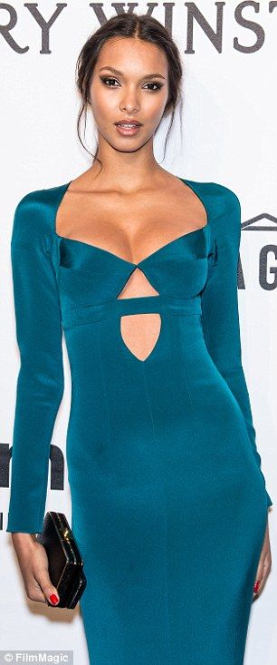 10aff50736 Off the runway  Lais looked gorgeous in a blue gown at the amfAR Gala in New  York in Febru.