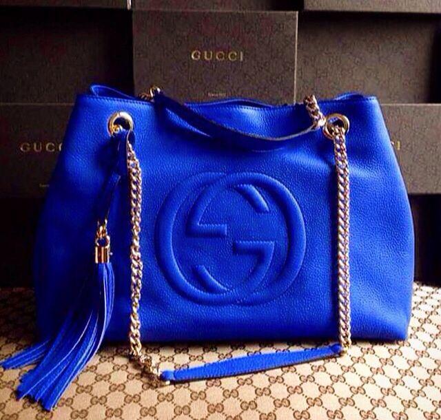 67265907896a87 Royal Blue Gucci Bag | Designer Handbags | Blue gucci bag, Bag ...
