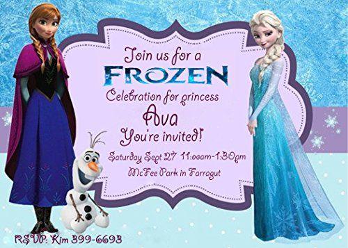 Custom Birthday Frozen Invitation Jpeg Disney Frozen    www - invitation birthday frozen