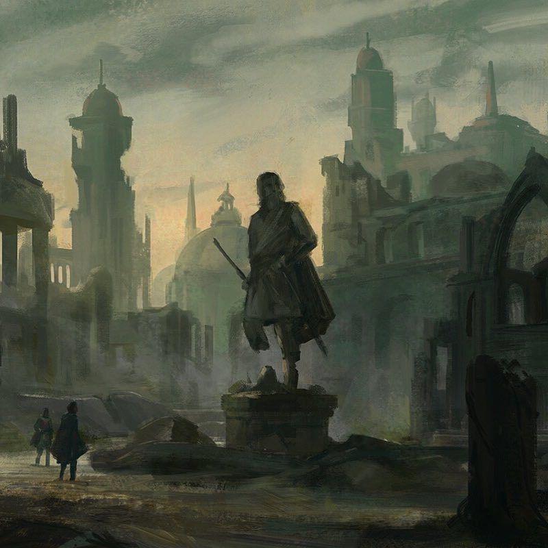 Ruined City Fantasy Art