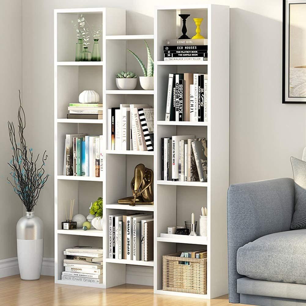 Tribesigns Modern Bookcase, 10-Shelf Storage Organizer Bookshelf