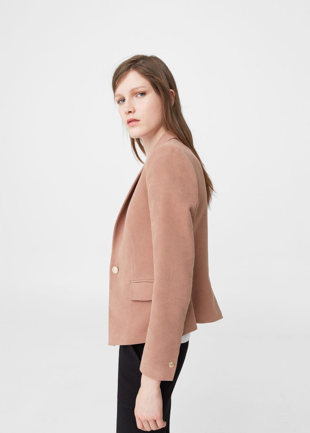 Structured Cotton Blazer Woman Mango Greece Cotton Blazer Blazers For Women Clothes