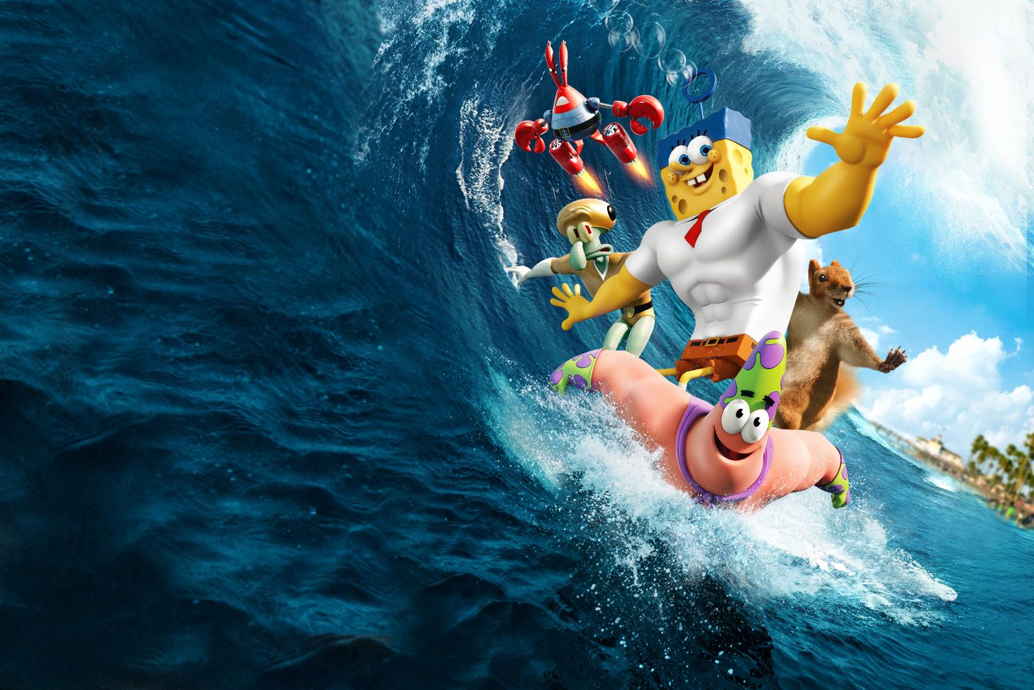 3d The Spongebob Movie Sponge Out Of Water Wallpaper Free