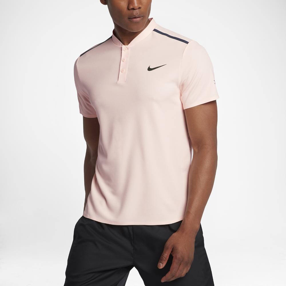 b41eea0de24 Nike NikeCourt Roger Federer Advantage Men s Tennis Polo Shirt Size Medium  (Pink)