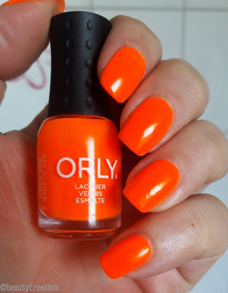 ORLY Mini-Nagellack - Melt Your Popsicle Neon Orange #orly ...