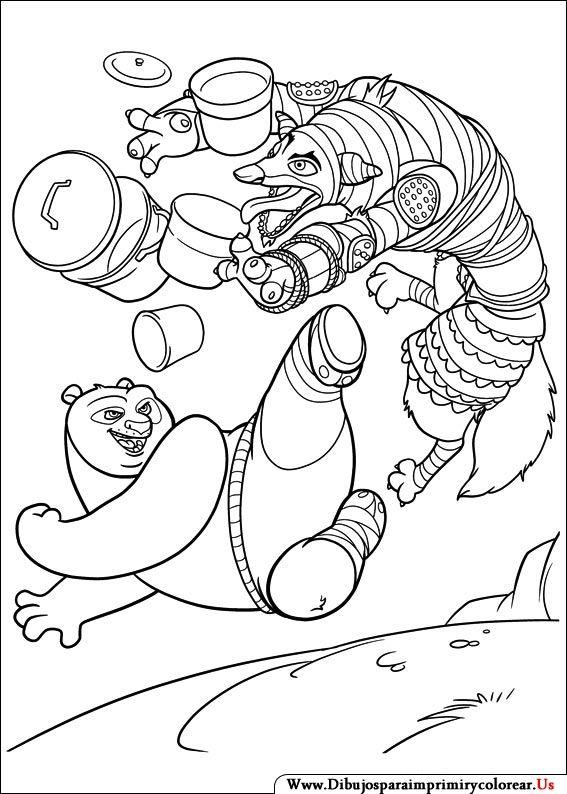 Dibujos de Kung Fu Panda para Imprimir y Colorear | Shibumi | Pinterest