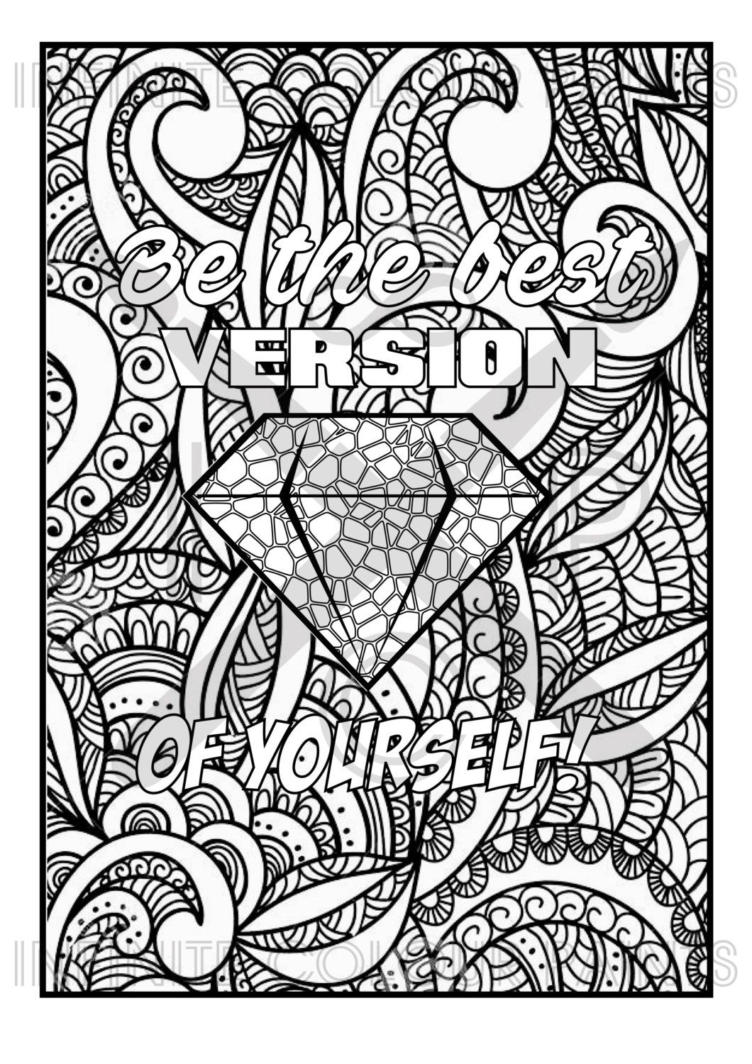 coloring page adult coloring coloring book printable. Black Bedroom Furniture Sets. Home Design Ideas