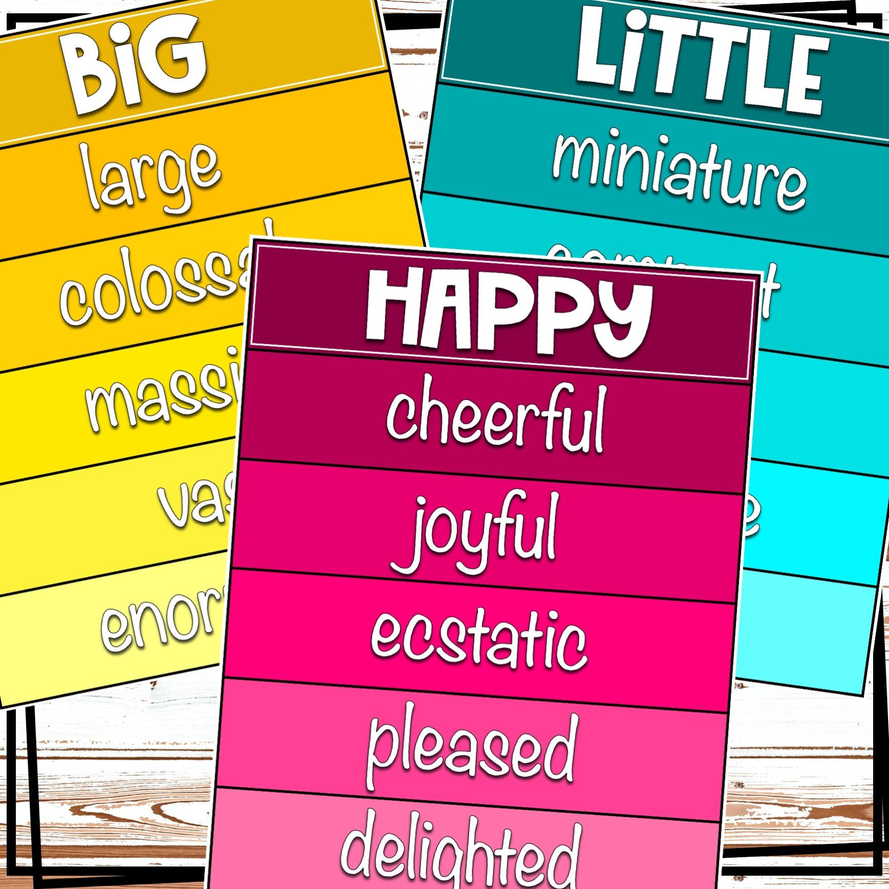 Colorful and Bright Synonym Posters! | Synonym posters ...