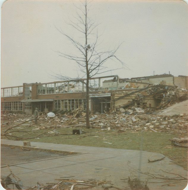 Xenia Tornado Xenia High School Xenia Ohio Ohio History Tornado Pictures