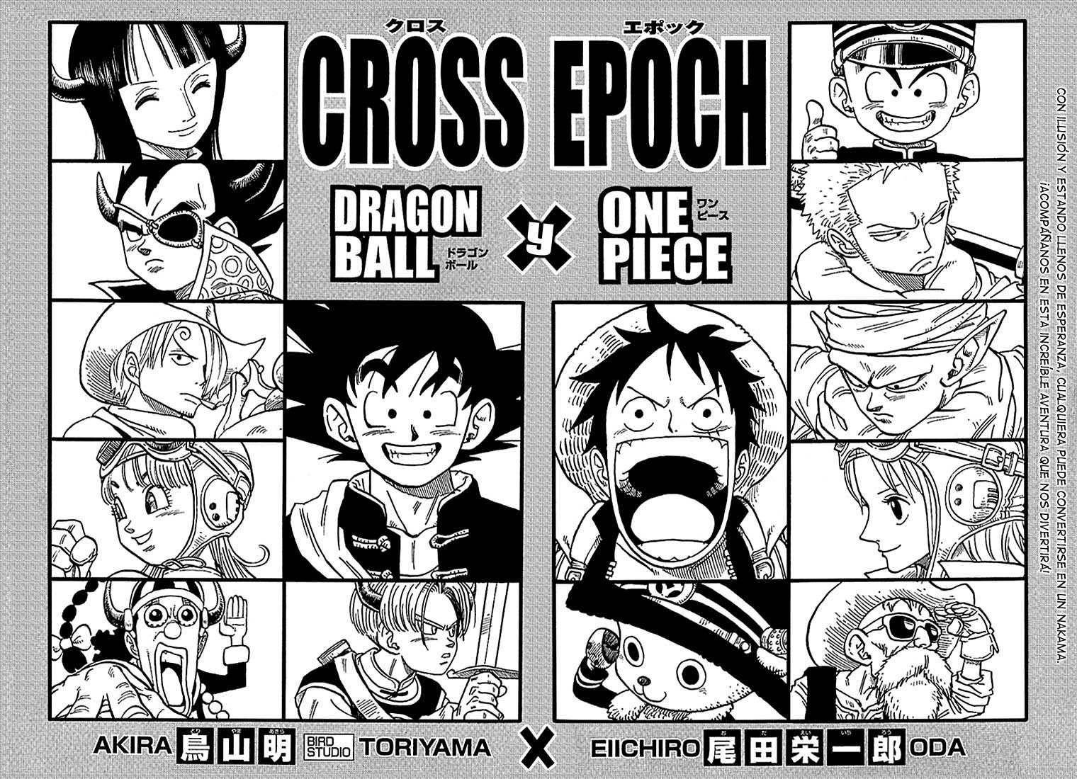 eiichirō oda one piece akira toriyama dragon ball one piece crossover akira anime crossover