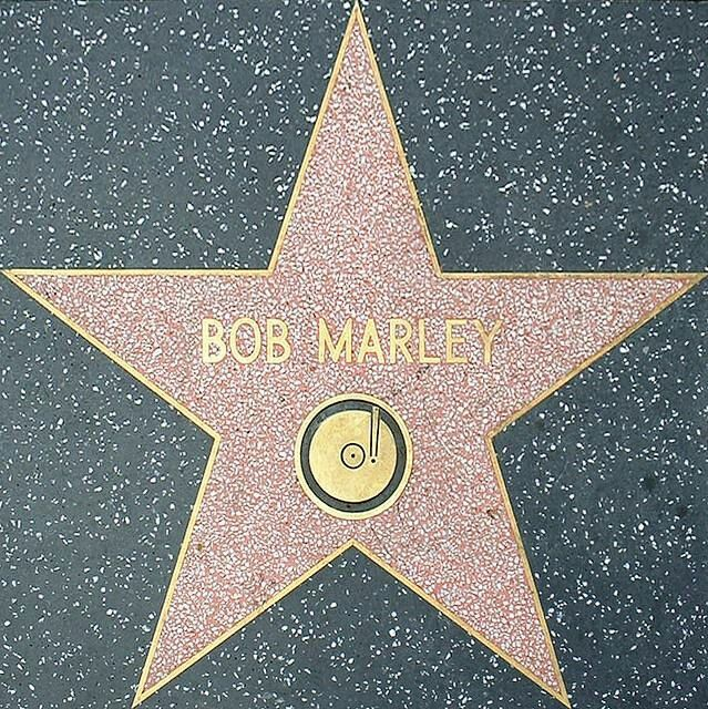 Bob Marley S Star On Hollywood Walk Of Fame Criss Bob Marley Pictures Bob Marley Nesta Marley